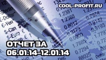 отчет по инвестированию в интернет за январь 2014 - 06.01.14 - 12.01.14