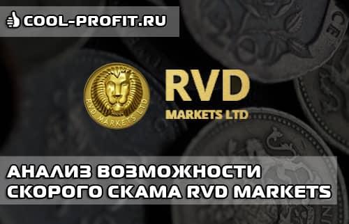 Анализ возможности скорого скама RVD Markets (для cool-profit.ru)