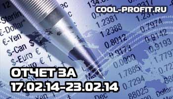 отчет по инвестированию в интернет за февраль 2014 - 17.02.14 - 23.02.14