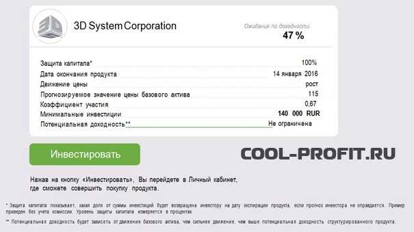инвестирование в акции 3d systems с помощью брокера Alpari для cool-profit.ru