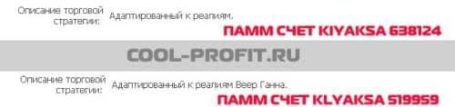 описание торговых стратегий счетов kiyaksa и klyaksa для cool-profit.ru