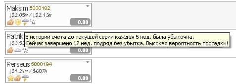 """Пиктограмма """"Высокая вероятность просадки"""" с сервиса InvestFlow (для cool-profit.ru)"""