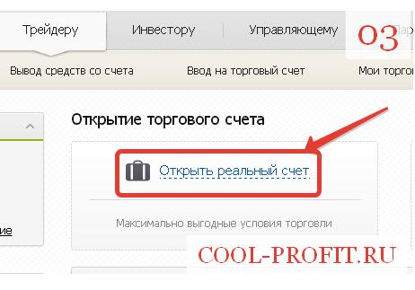 Открыть торговый счет STANDART у брокера TenkoFx. Шаг 3 (для cool-profit.ru)
