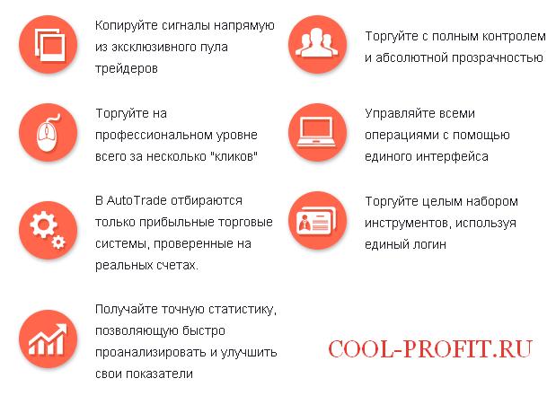 Преимущества сервиса Autotrade (для cool-profit.ru)