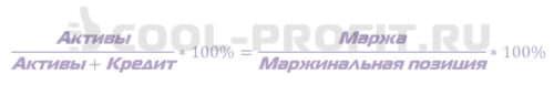 Формула расчеты маржинального процента (уровня маржи) (для cool-profit.ru)