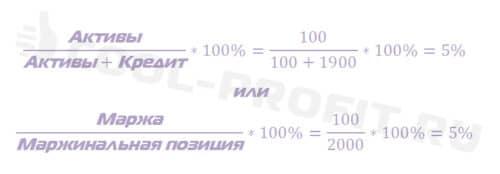 Результат расчета маржинального процента (уровня маржи) (для cool-profit.ru)