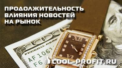 Продолжительность влияния новостей на рынок форекс (cool-profit.ru)
