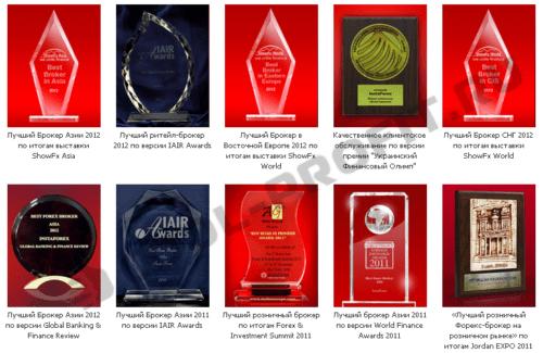 Награды InstaForex (для cool-profit.ru)