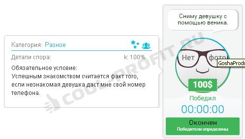 Пример 2 спора на betonmoney.com (для cool-profit.ru)
